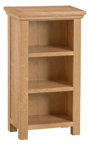 Cornish Oak Low Narrow Bookcase